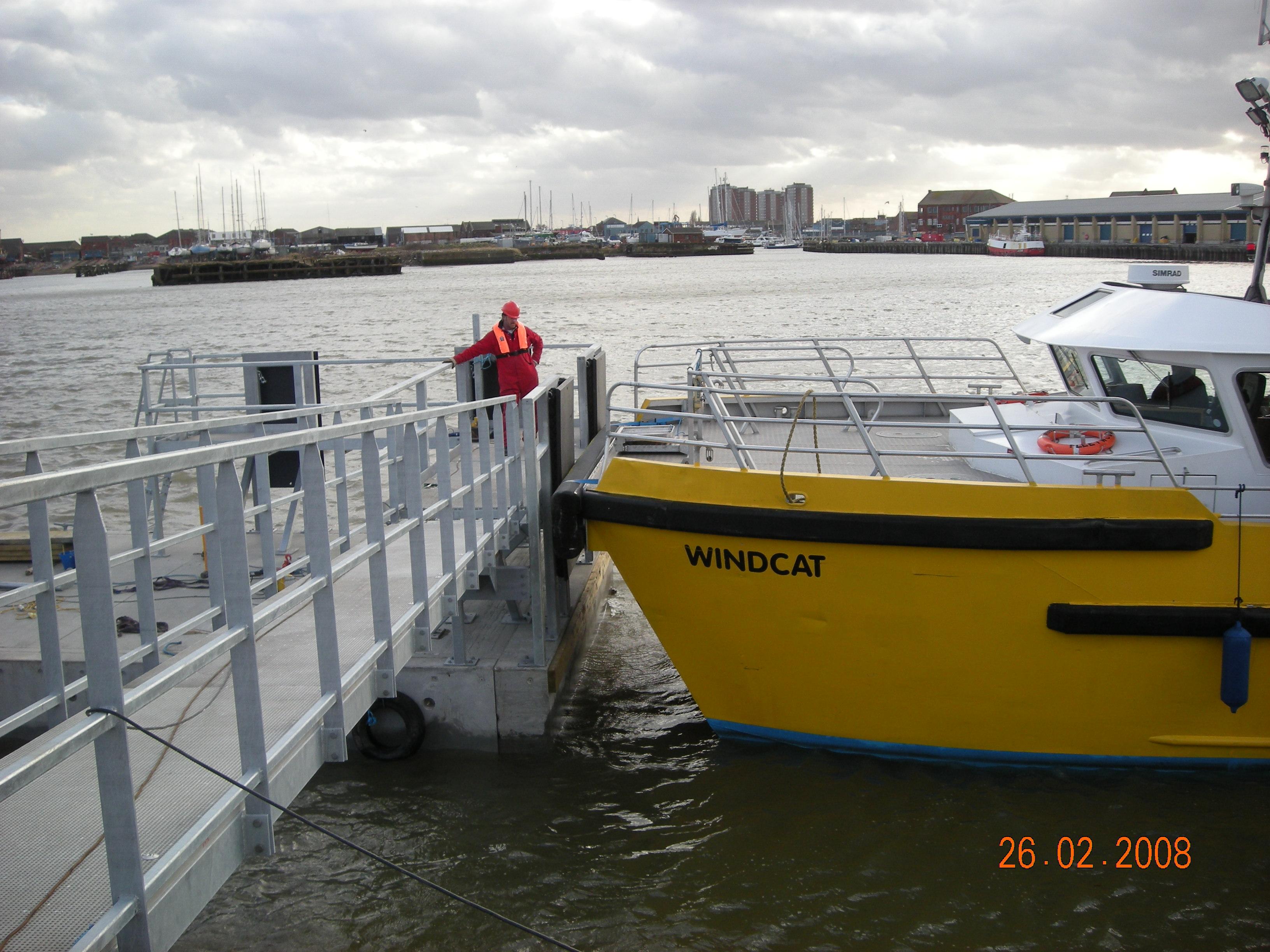 Windcat pontoon