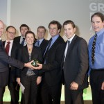 Designer Shane Carr and team at the South West Green Energy Awards and Renewable Futures conference, Bath.