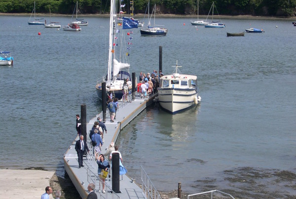 Falmouth River pontoon