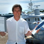 Designer Shane Carr wins the Gold Business Innovation award for designing pontoons at the Cornwall Business Awards.