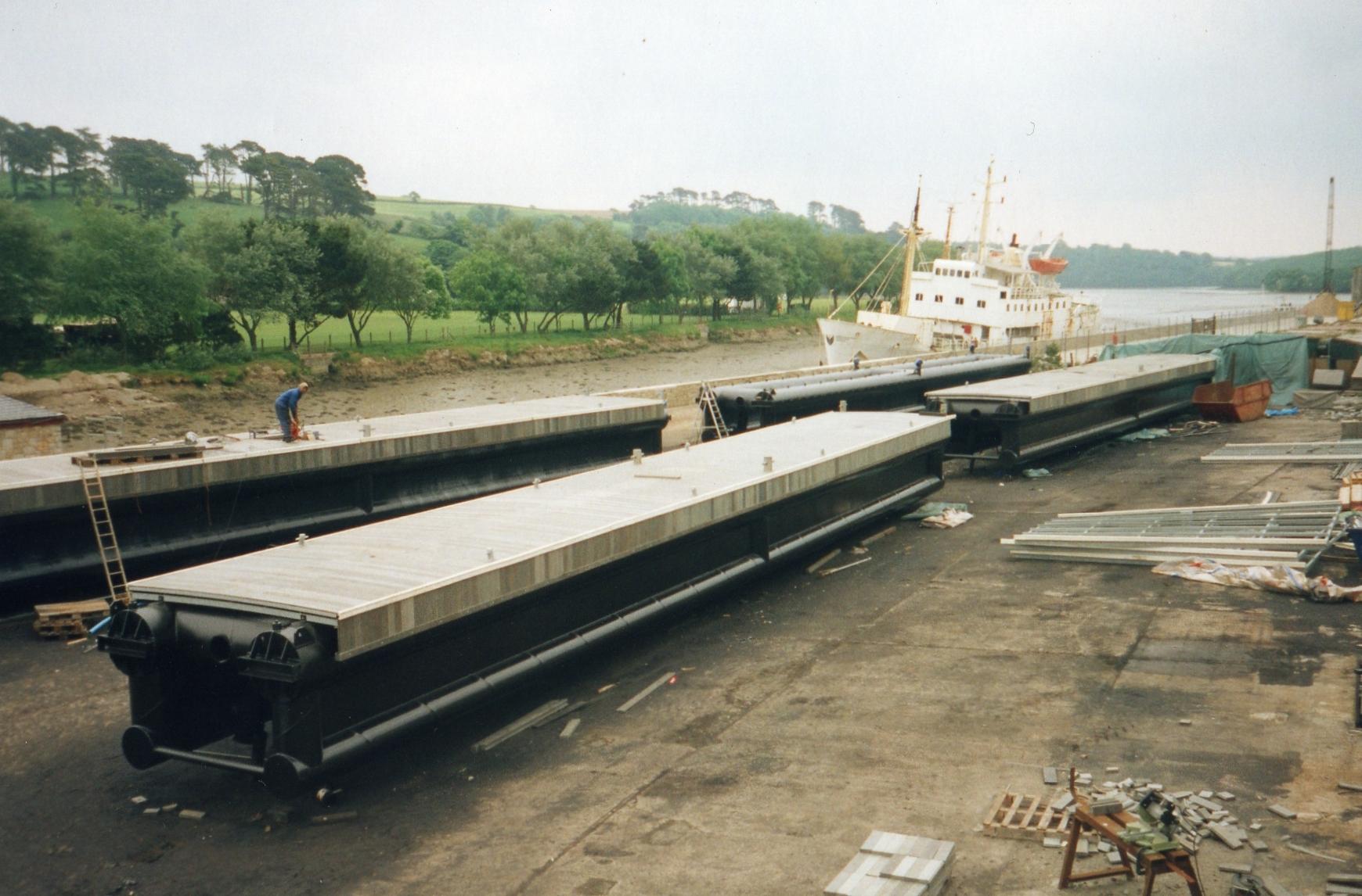 Wavebreak pontoons Falmouth