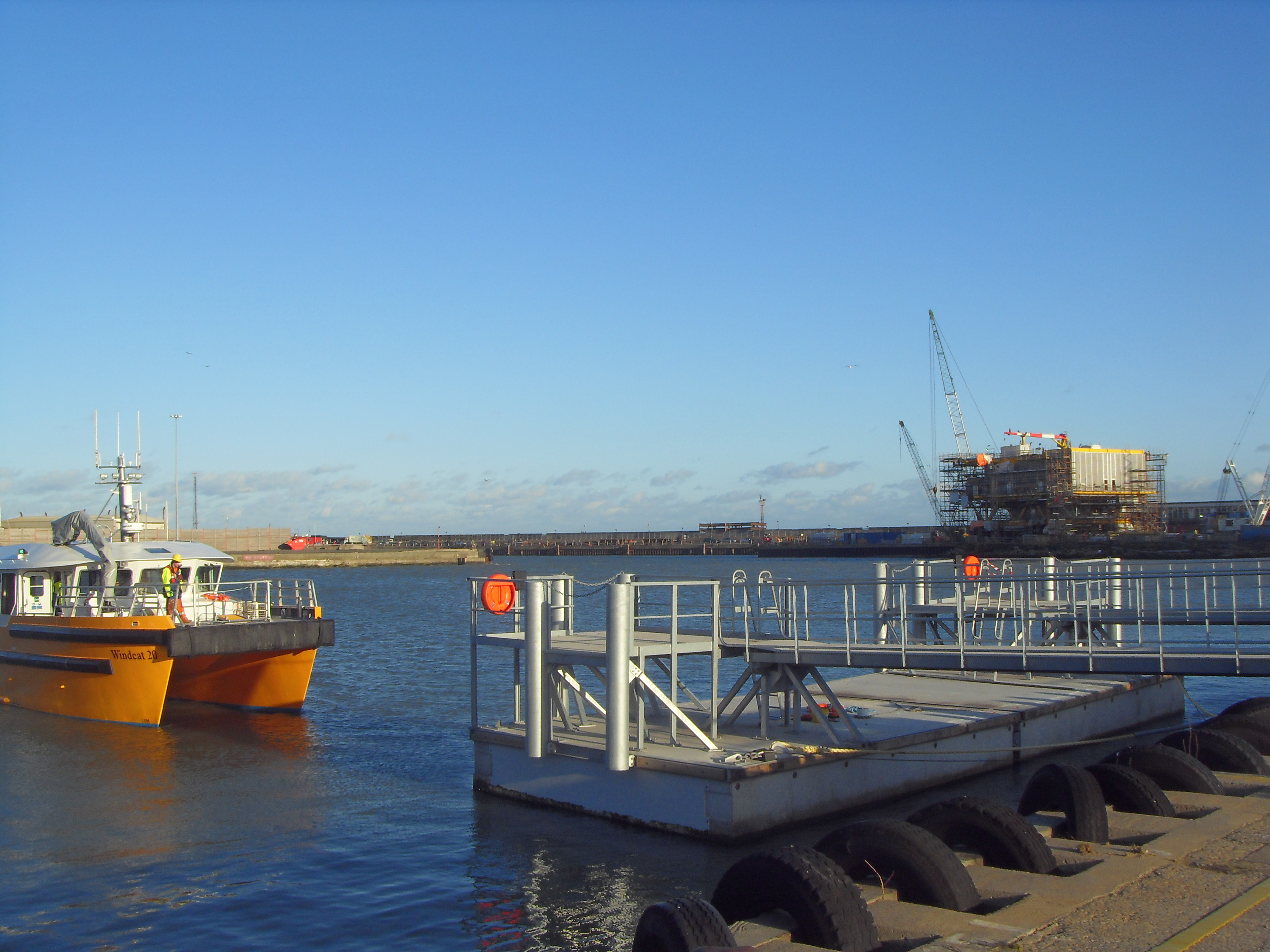 Lowestoft concrete pontoon