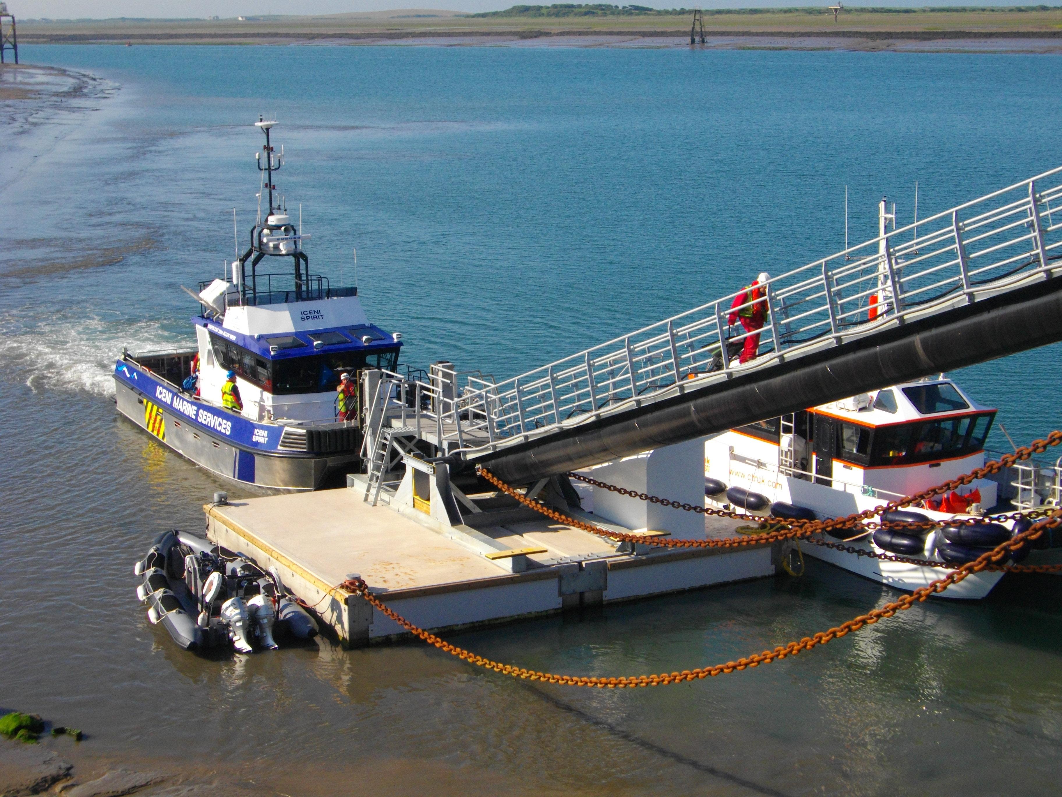 Concrete pontoon, Barrow in Furness