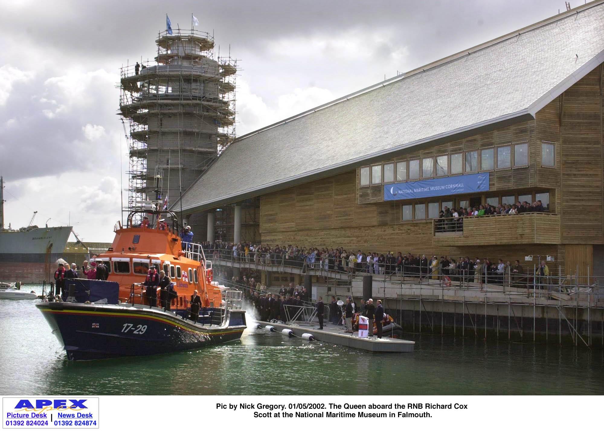 RNLI lifeboat concrete floating pontoon marina
